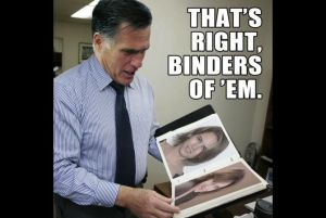 Mitt's binders full of women