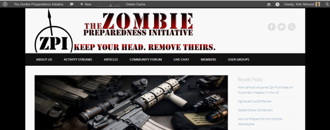 The Zombie Preparedness Initiative
